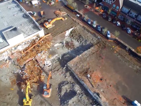 VIDEO: Drone Footage of Wizer Block Project Building, November 2016